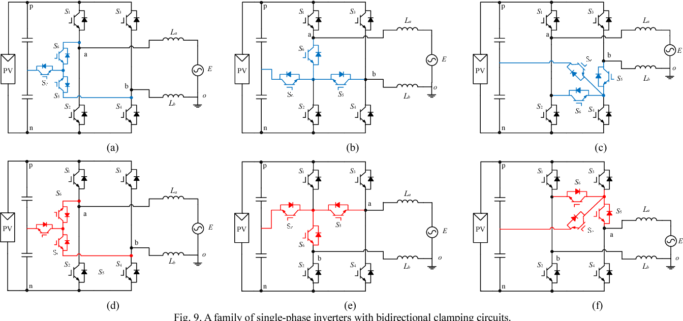 Neutral Point Clamped Circuits Of Single Phase Pv Inverters Power Inverter Is Bidirectional Circuit Diagram Electronic Generalized Principle And Implementation Semantic Scholar